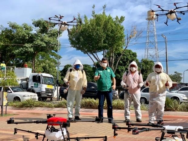 MP investiga Emanuel por uso de drones contra Covid-19; prefeitura diz que já acionou órgãos